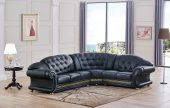 Living Room Furniture Sectionals Apolo Sectional Black
